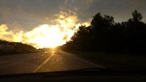 Endlich Sonne - auf der Heimfahrt